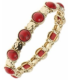 Nine West Vintage America Collection® Goldtone And Coral Stetch Bracelet