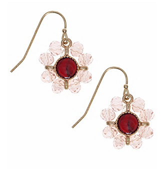 Nine West Vintage America Collection® Goldtone And Coral Beaded Drop Earrings plus size,  plus size fashion plus size appare