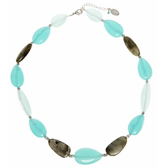 Nine West Vintage America Collection® Silvertone And Turquoise Collar Necklace