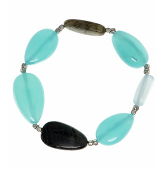 Nine West Vintage America Collection® Silvertone And Turquoise Stretch Bracelet