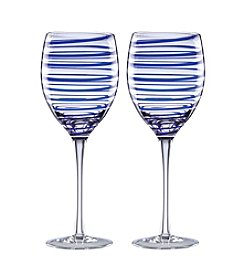 kate spade new york® Charlotte Street Set Of 2 Wine Glasses