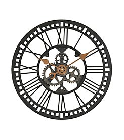 FirsTime Roman Numeral Gear Wall Clock