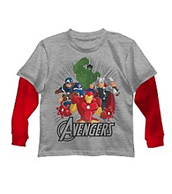 Marvel® Boys' 4-7 Long Sleeve Layered Avengers™ Squad Tee