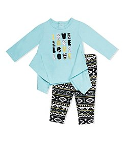 Baby Essentials® Baby Girls' Love Tunic And Geo Leggings Set
