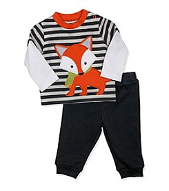 Baby Essentials® Baby Boys Striped Fox Tee And Pants Set