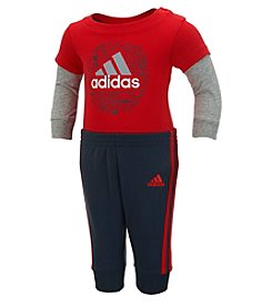 adidas® Baby Boys' Don't Blink Layered Bodysuit And Pants Set