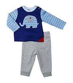 Baby Essentials® Baby Boys Elephant Tee And Pants Set