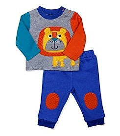 Baby Essentials® Baby Boys Lion Quilted Top And Pants Set