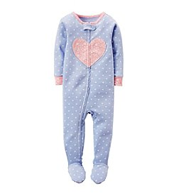 Carter's® Girls' One Piece Heart Sleeper