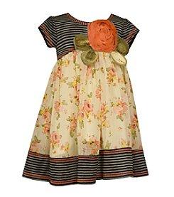 Bonnie Jean® Girls' 2T-6X Striped Floral Dress