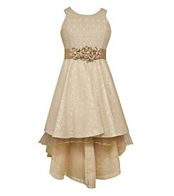 Bonnie Jean® Girls' 7-16 Floral Waistband High-Low Dress
