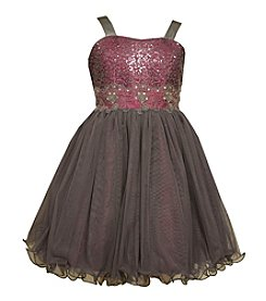 Bonnie Jean® Girls' 7-16 Sequin Wire Hem Party Dress