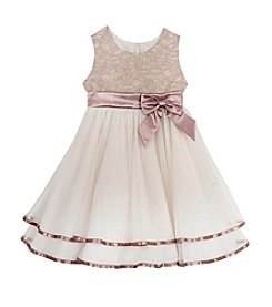 Rare Editions® Girls' 2T-6X Lace Empire Dress