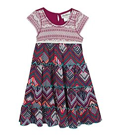 Rare Editions® Girls' 4-6X Crochet Tiered Dress