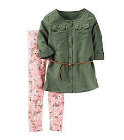 Carter's® Girls' 4-8 2-Piece Tunic And Floral Leggings Set
