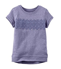 Carter's® Girls' 2T-8 Short Sleeve Lace Accent Tee