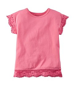 Carter's® Girls' 2T-8 Short Sleeve Lace Hem Tee