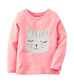 Carter's® Girls' 2T-8 Long Sleeve Kitty Tee