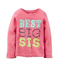 Carter's® Girls' 2T-8 Long Sleeve Best Big Sis Tee
