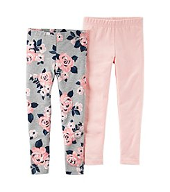 Carter's® Girls' 2T-8 2-Pack Floral Leggings