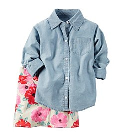 Carter's® Girls' 4-8 2-Piece Chambray Top And Floral Skirt Set