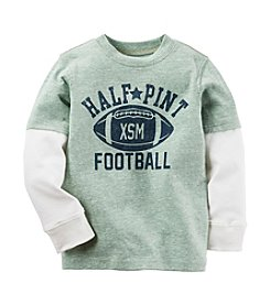 Carter's® Boys' 2T-4T Long Sleeve Layered Half Pint Tee