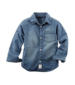 Carter's® Boys' 2T-8 Long Sleeve Chambray Button Down Shirt