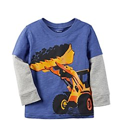 Carter's® Boys' 12M-8 Long Sleeve Layered Construction Tee