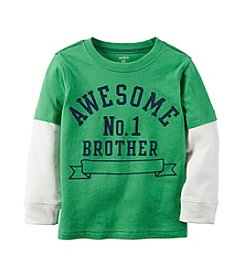 Carter's® Boys' 12M-8 Long Sleeve Layered #1 Brother Tee