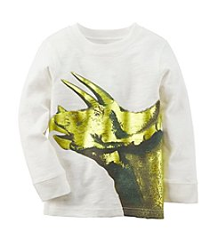 Carter's® Boys' 4-8 Long Sleeve Foiled Dinosaur Tee