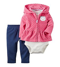 Carter's® Baby Girls' 3-Piece Owl Hoodie Set
