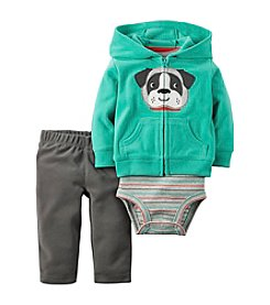Carter's® Baby Boys 3-Piece Dog Hoodie Set