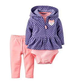 Carter's® Baby Girls' 3-Piece Fox Hoodie Set