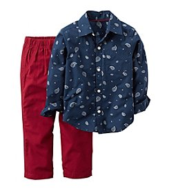 Carter's® Baby Boys 2-Piece Paisley Shirt And Pants Set