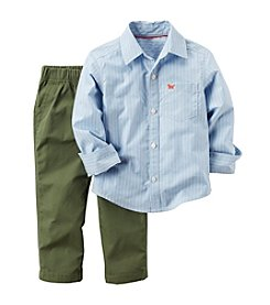 Carter's® Baby Boys 2-Piece Striped Shirt And Pants Set