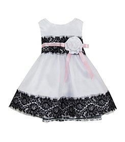 Rare Editions® Baby Girls' Lace Accented Organza Dress