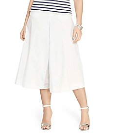 Lauren Ralph Lauren® Plus Size Wide-Leg Poplin Culotte