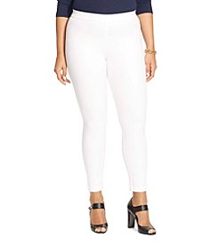 Lauren Ralph Lauren® Plus Size Bi-Stretch Twill Leggings