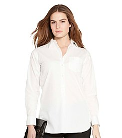 Lauren Ralph Lauren® Plus Size Cotton Poplin Tunic