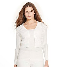 Lauren Ralph Lauren® Plus Size Pointelle-Knit Cotton Cardigan