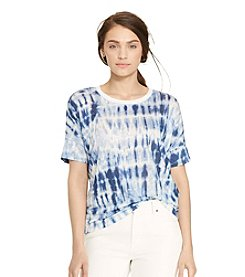 Lauren Jeans Co.® Petites' Tie-Dye Linen Tee