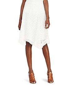 Lauren Ralph Lauren® Petites' Eyelet Cotton Skirt