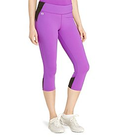 Lauren Active® Petites' Color-Blocked Cropped Leggings