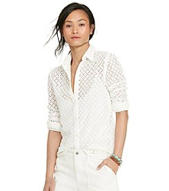 Lauren Ralph Lauren® Eyelet Cotton Shirt