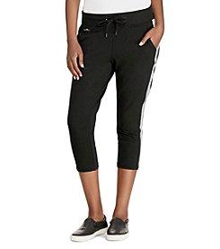 Lauren Active® Side-Stripe Cropped Pants
