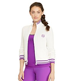 Lauren Active® Cable-Knit Full-Zip Sweater