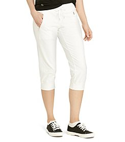 Lauren Active® Cropped Stretch Cotton Joggers
