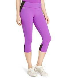 Lauren Active® Color-Blocked Cropped Leggings