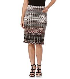 Rafaella® Printed Gradient Textured Skirt