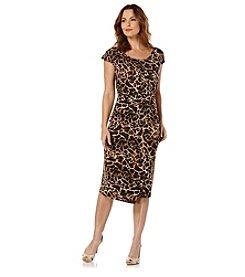 Rafaella® Giraffe Print Faux Wrap Dress